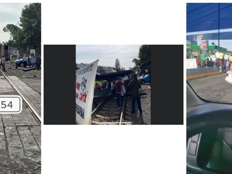 Bloqueo en vías férreas afecta a 10 trenes
