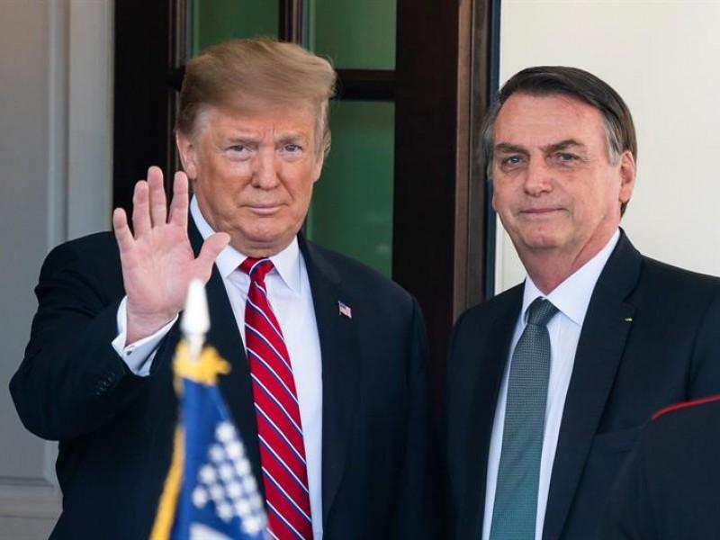 Bolsonaro llega a la Casa Blanca para reunión
