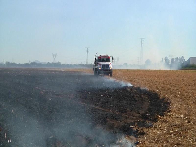 Bomberos llama a la ciudadanía a evitar quemas de soca