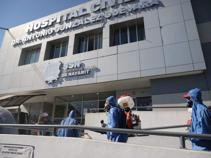 Brigada de sanitización descontamina hospitales de Tepic