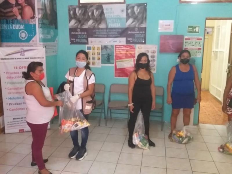 Brigadas apoyan a mujeres vulnerables en Tapachula