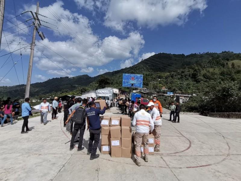 Continúa atención a desplazados de Pantelhó