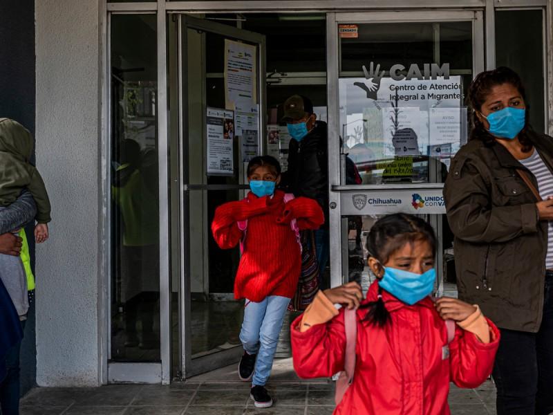 Brote de Covid en centro de detención de migrantes