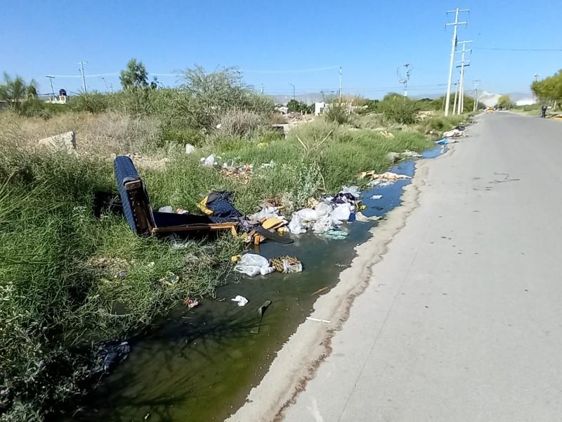 Bulevar pasa de ser vialidad a convertirse en basurero