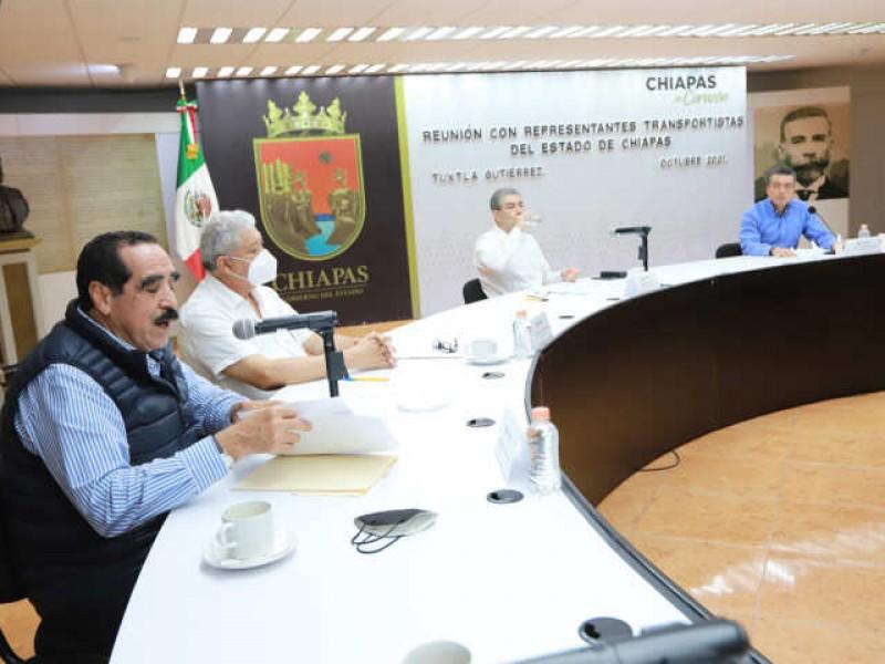Busca gobierno de Chiapas fortalecer el transporte público