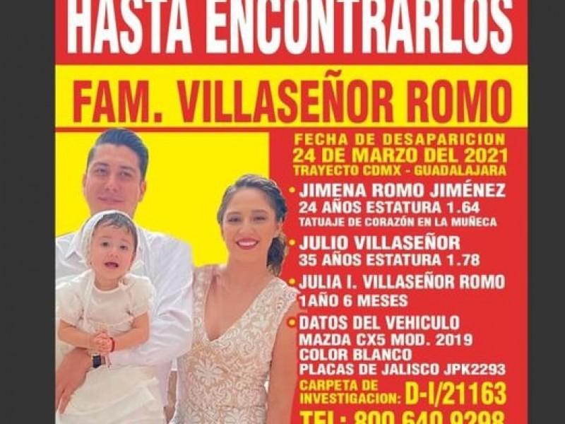 Buscan a familia desaparecida