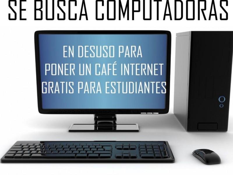 Buscan instalar café internet para niños de escasos recursos
