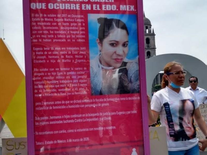 Buscan la reparación del daño a deudos de Eugenia Machuca