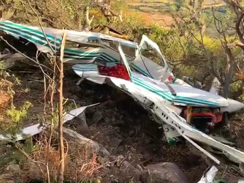 Cae avioneta en Chichimequillas