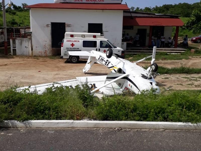 Cae avioneta en la Costa Chica de Guerrero