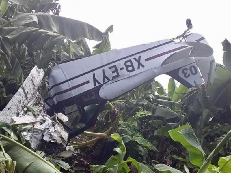 Cae avioneta en Mazatán; hay un muerto