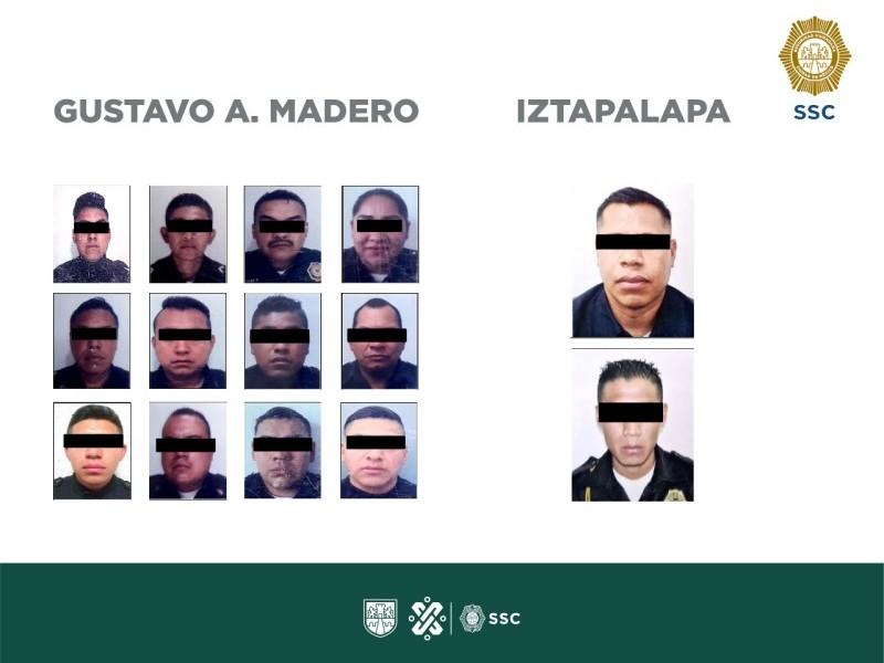 Caen 14 policías por robo, extorsión y secuestro en CDMX