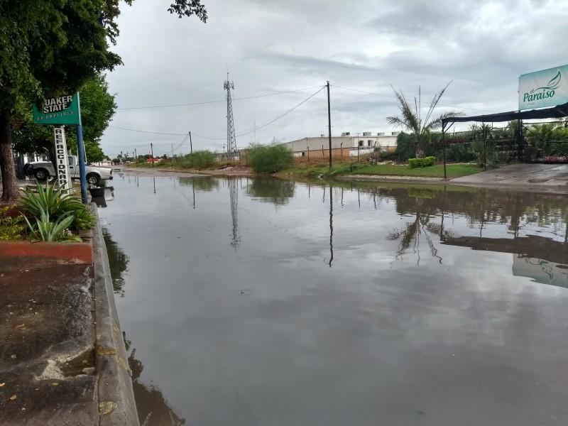 Caen 15.7 mililitros de lluvia en Los Mochis