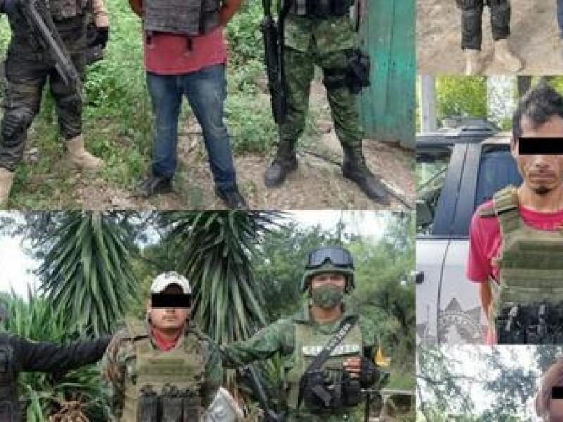Caen cinco sujetos con arsenal en Nuevo León