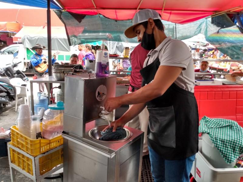 Caen ventas en mercado Hidalgo por restricciones sanitarias