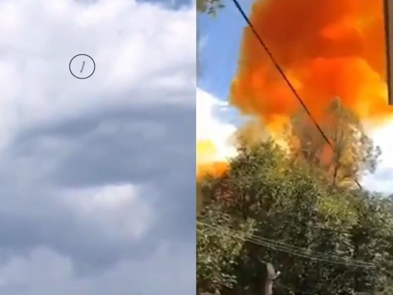 Caída de propulsor cerca de escuela causa pánico en China