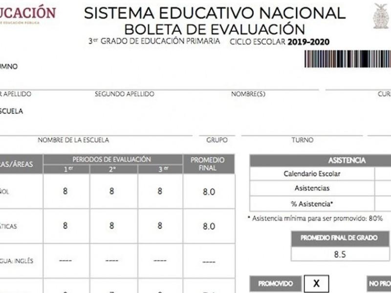 Calificaciones del ciclo escolar 2020-2021 serán preliminares