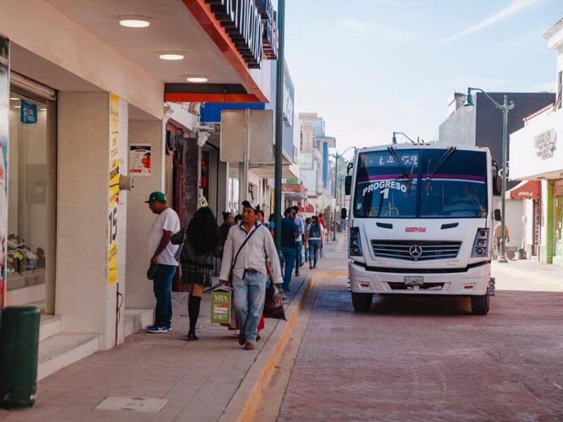Calle Puebla solo abrió al transporte público - MEGANOTICIAS