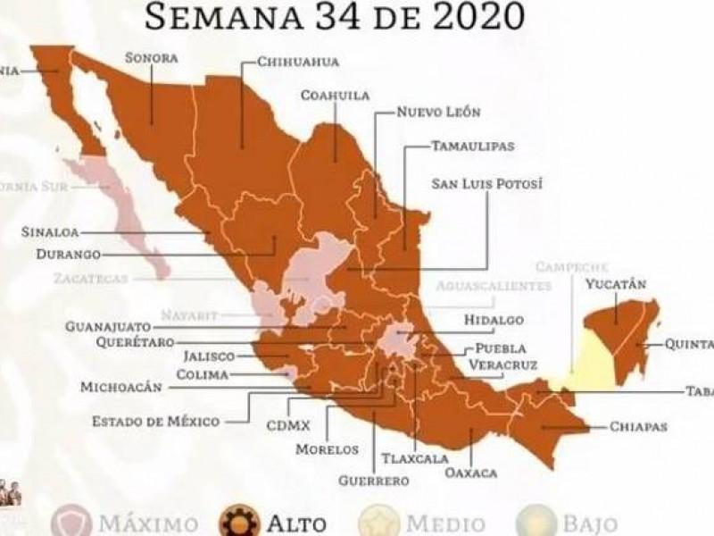 Cambia Puebla de rojo a naranja en semáforo epidemiológico
