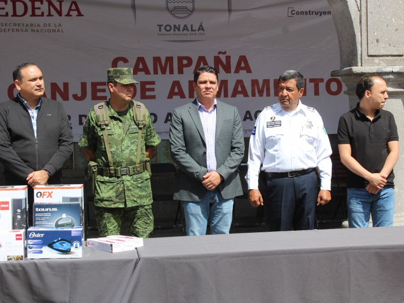Inicia campaña de canje de armas en Tonalá