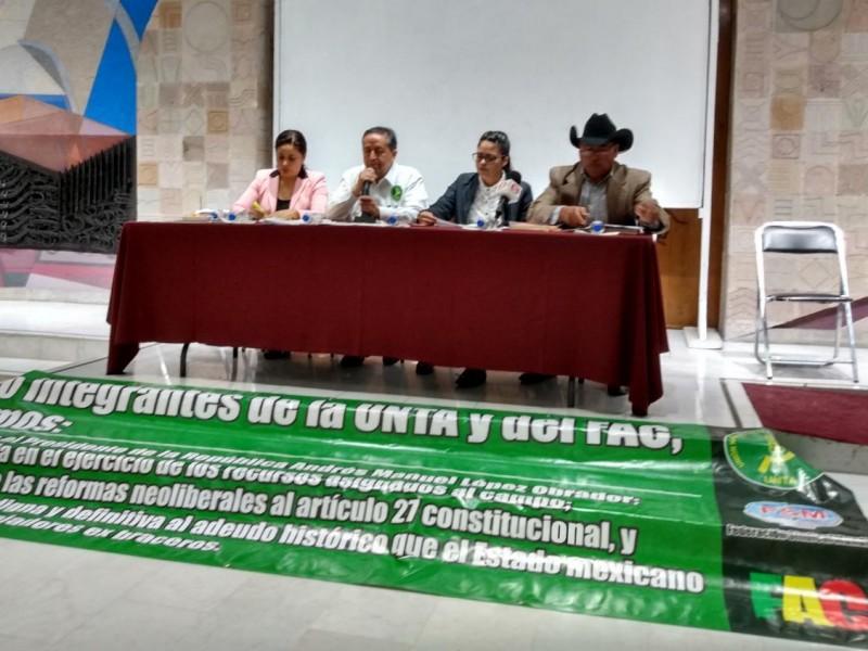 Campesinos se manifestarán a nivel nacional