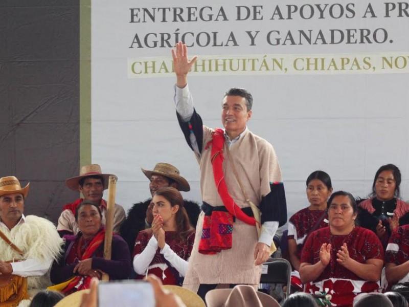 Campo chiapaneco recibe apoyos agrícolas