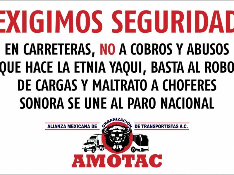 Canacar cancela paro, Amotac continuará con protesta