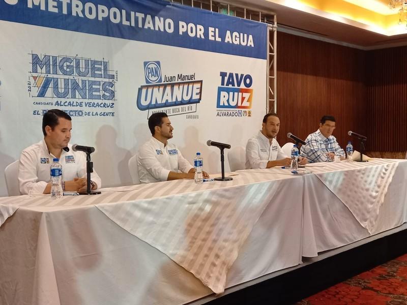 Candidatos del PAN firman acuerdo por el agua