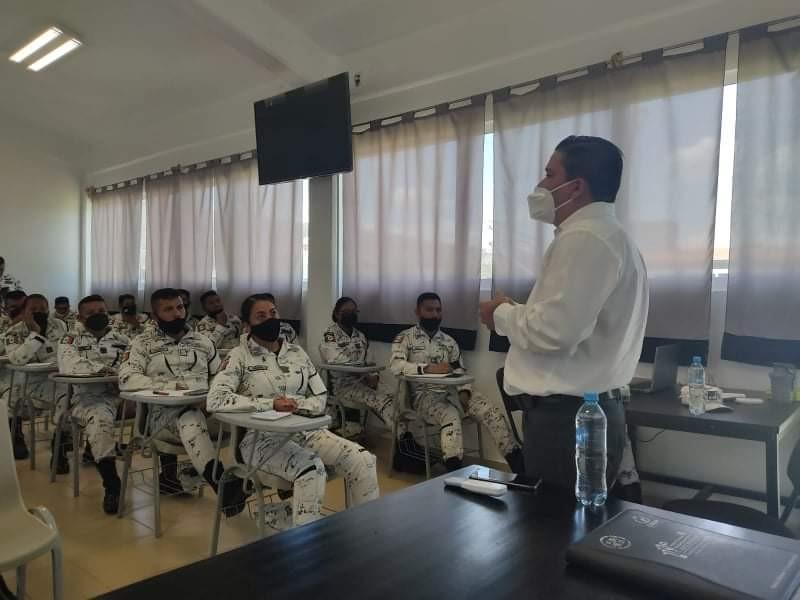 Capacita CEDH a elementos de la Guardia Nacional de Zamora
