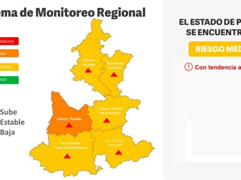 Capital poblana pasa a naranja por incremento de contagios COVID-19