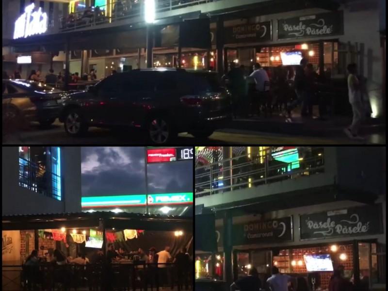 Captan aglomeración y violación de protocolos en bares de Tepic