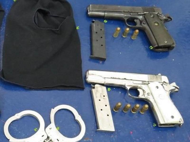 Captura SSP a 3 por portación ilegal de armas