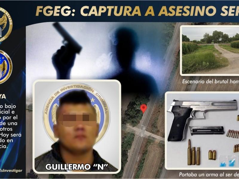 CAPTURAN AGENTES DE INVESTIGACIÓN CRIMINAL A HOMICIDA SERIAL EN CELAYA
