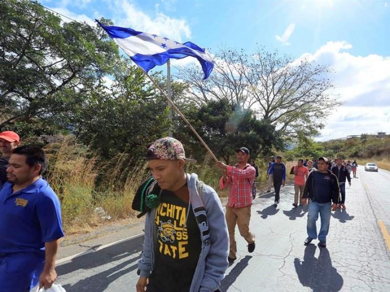 Caravana de migrantes hondureños continúa