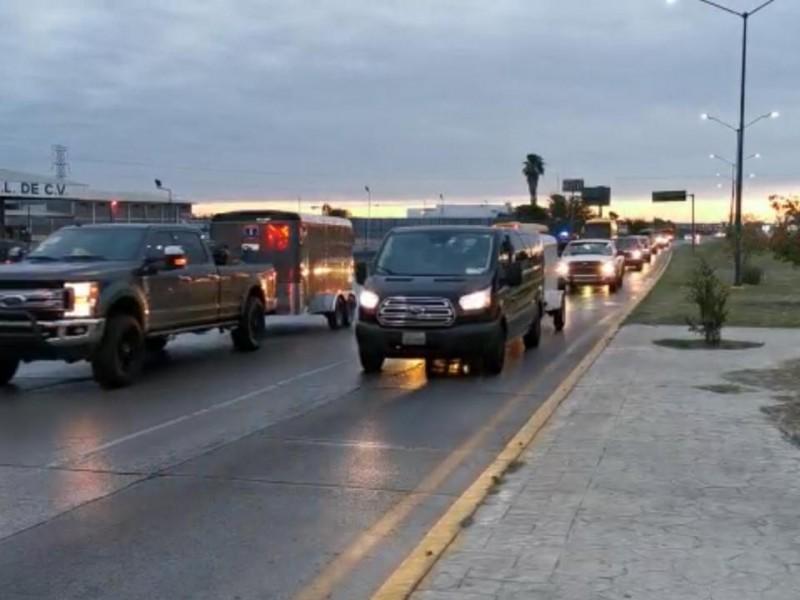 Caravana de paisanos entra a México, destino Querétaro
