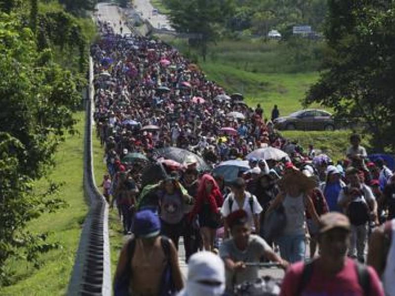 Caravana migrante arribó a Villacomaltitlán