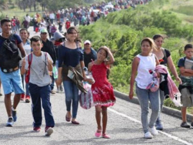 Caravana migrante foco rojo de enfermedades para ciudadanía