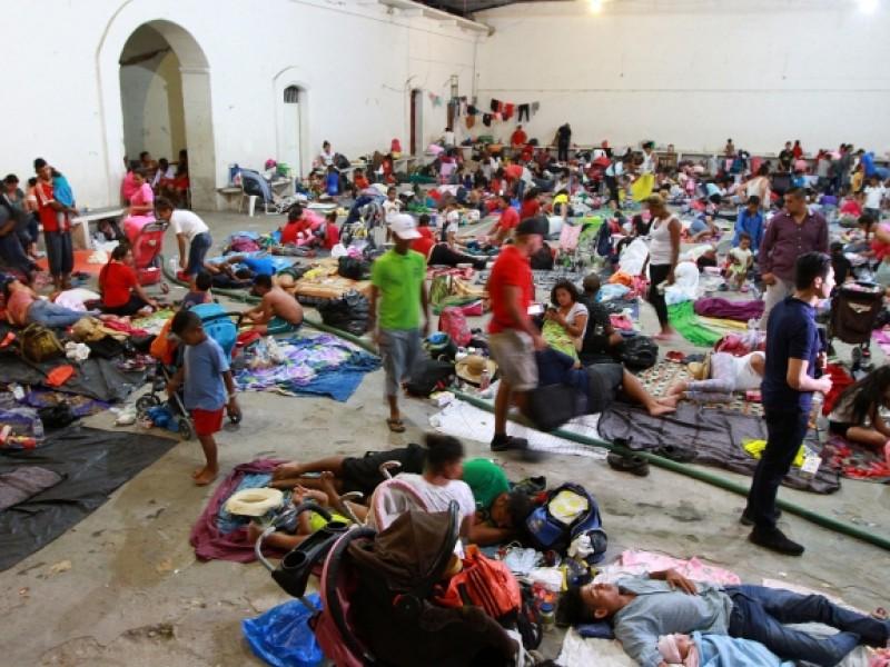 Caravana Migrante se instala en Niltepec, Oaxaca