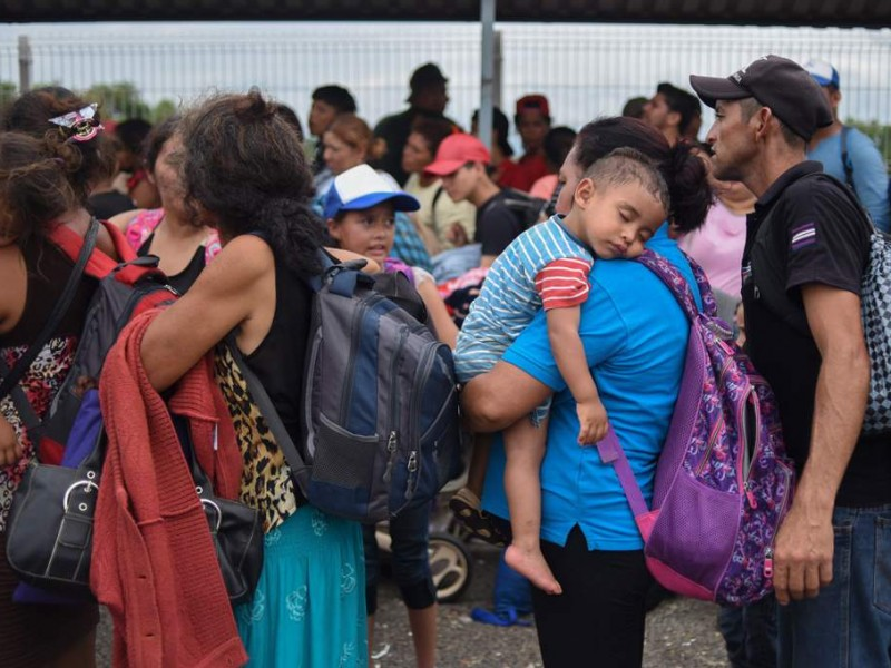 Caravana migrante se prepara para ser trasladada