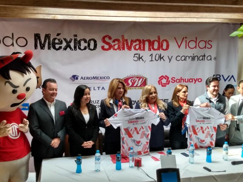Carrera deportiva Salvando Vidas de Cruz Roja Mexicana