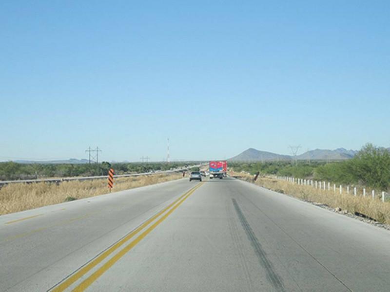 Carretera Guaymas-Hermosillo es peligrosa, no tiene señalamientos J.A.I.M.E