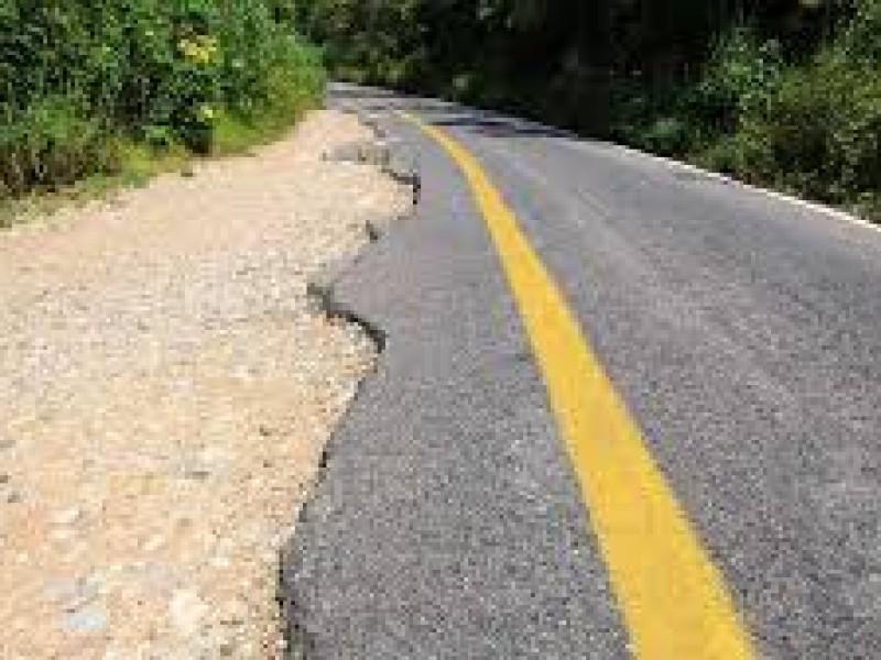 Carreteras en Chiapas en malas condiciones