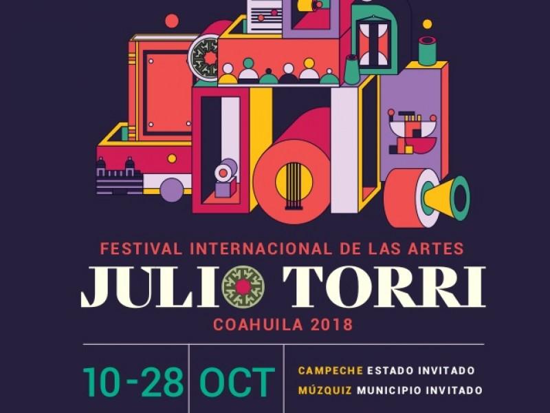 Cartelera del Festival Internacional Julio Torri 2018.