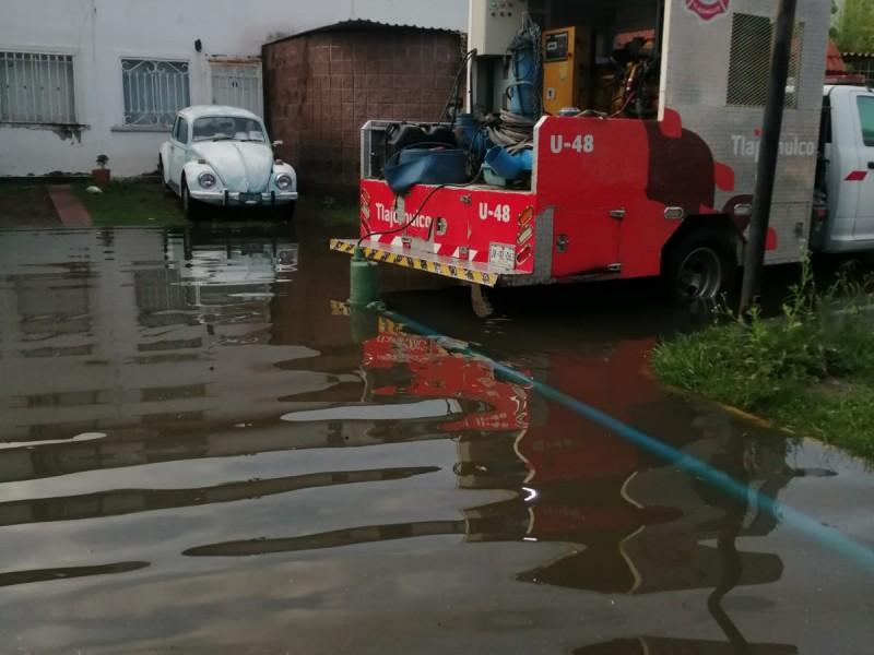 Casi 100 casas afectadas en Tlajomulco por lluvia.