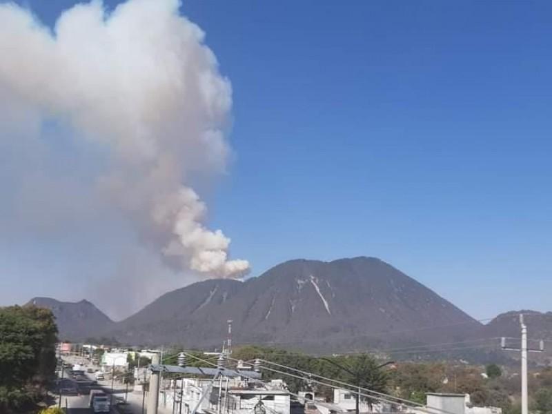 Causa alarma incendio del cerro del Pinal en Acajete