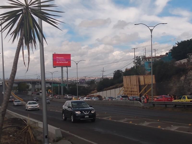 Afectaciones al tránsito por  Distribuidor vial