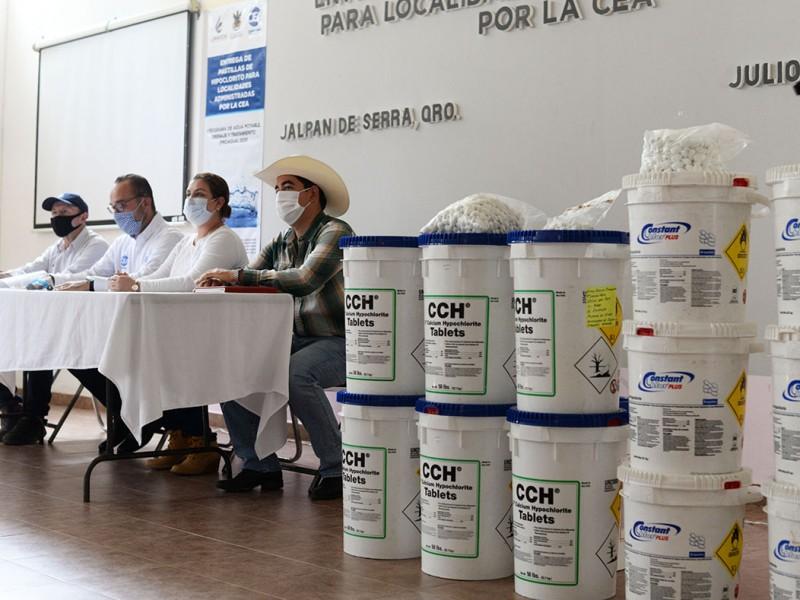 CEA entrega pastillas de cloro para desinfección de agua