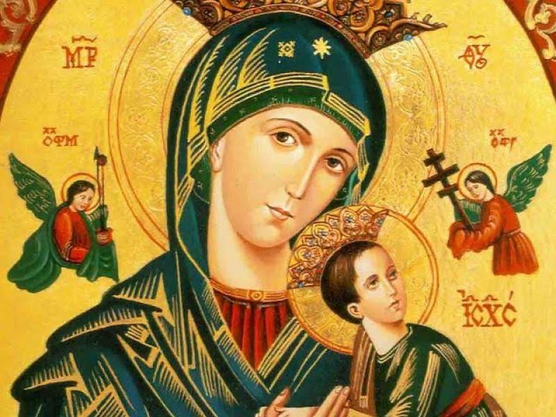 Celebra.comunidad católica a la virgen del Perpetuo Socorro