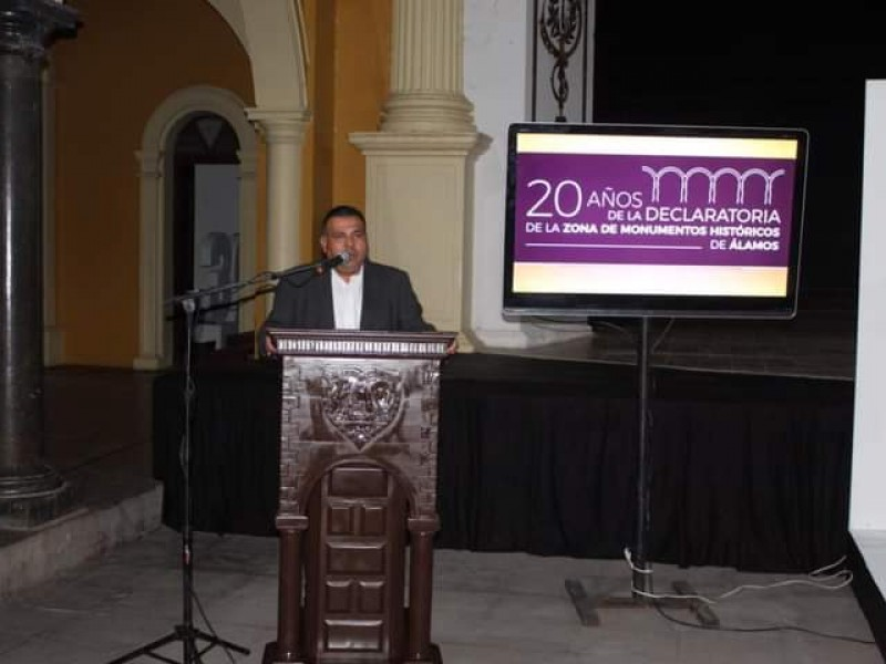 Celebran 20 años de zona de monumentos históricos en Álamos