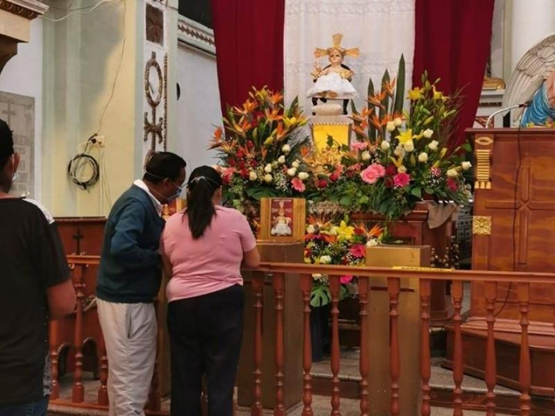 Celebran al Niño Cieguito en Puebla siguiendo medidas sanitarias